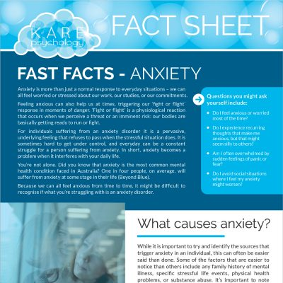 Anxiety Fact Sheet